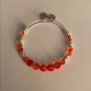 Alex and Ani Swarovski Crystal Bangle Orange \ Red